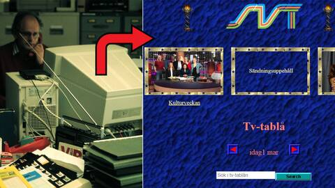 Med hjälp av en hemlig kod kan du komma åt SVT Play i full retroversion.