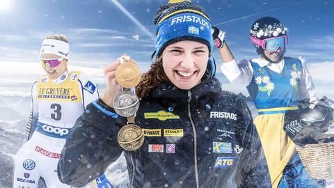 Stina Nilsson, Hanna Öberg och Frida Hansdotter glänste i vinter.
