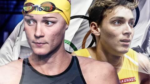 Sarah Sjöström och Armand Duplantis.