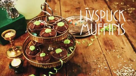 Muffins som ser ut som livspuckar.