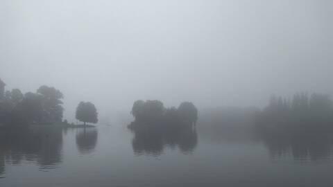 Dimma över Pildammsparken i Malmö söndagen den 22:a september.