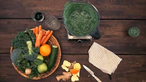 Tareqs gröna frukostsmoothie.