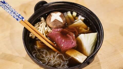Japansk fondue – Shabu shabu på älg.