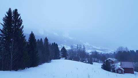 Mulet och lite blåsigt. Åre i Jämtland.