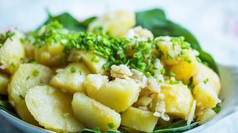 Fransk potatissallad.