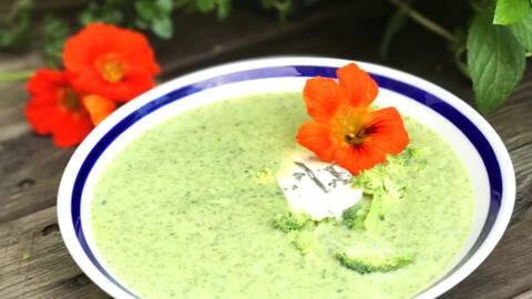 Broccolisoppa med ädelost.