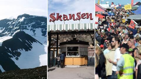 Kebnekaise, Skansen och Kiviks marknad