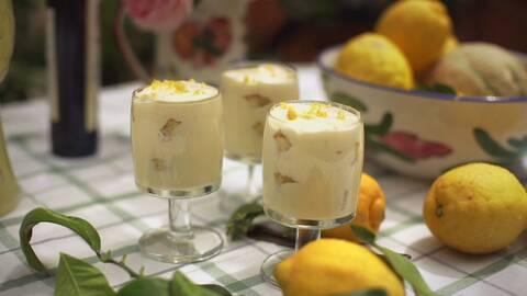 Tiramisu med citron.