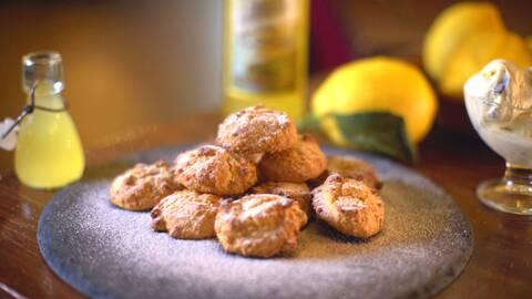 Kakor med citronlikör - Limoncello biscuits.