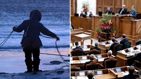 """Frågan om man får benämna den grönländska ursprungsbefolkningen som """"eskimåer"""" har nu nått regeringsnivå i Danmark."""