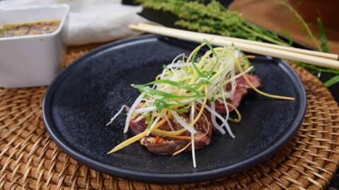Asiatisk biff med ponzu.