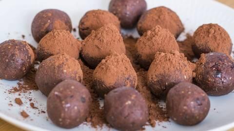 Raw chokladbollar