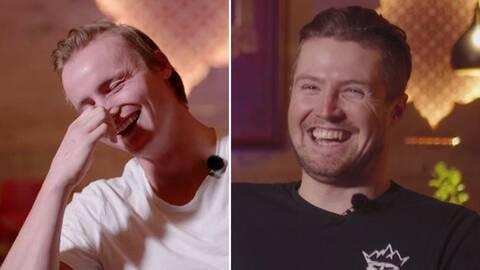 Felix Monsén och Alexander Köll tävlar i frågesport.