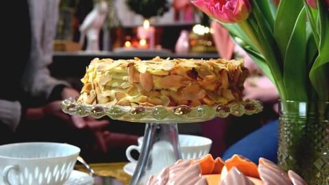 Oscar II:s tårta (glutenfri påsktårta).