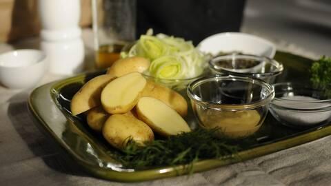 Potatis, senap, purjolök.