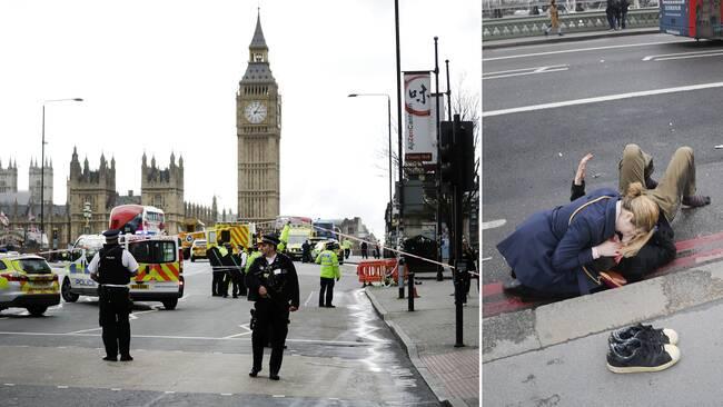 Polis spärrade strax efter incidenten av stora delar av centrala London.