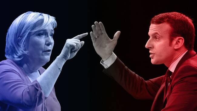 Le Pen och Macron