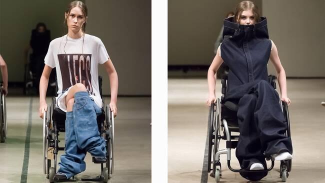 Framtidens designers visar upp sig pa catwalken