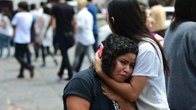 Mexikaner flydde efter jordskalv