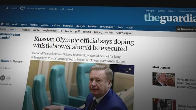 Rysk dopning dokumentär netflix