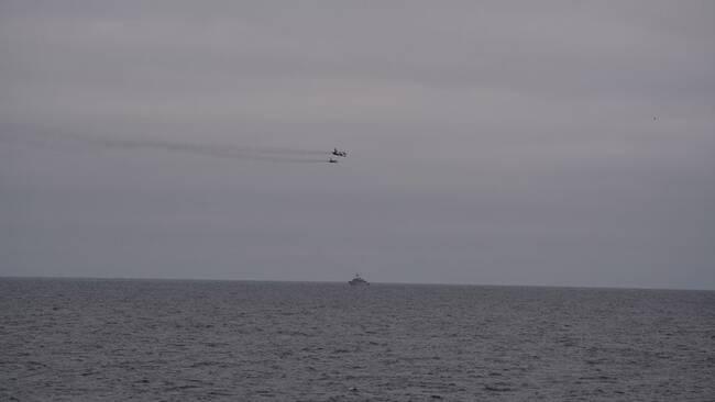 Ryska Su-24 attackflygplan vid belgiskt örlogsfartyg 18 november 2018. c29fbaba060ad