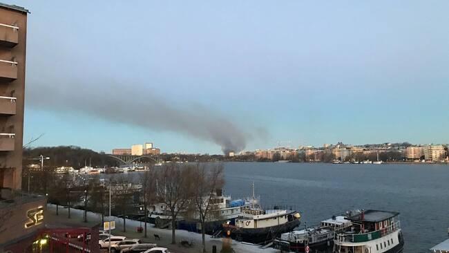 Brand pa gardet i stockholm