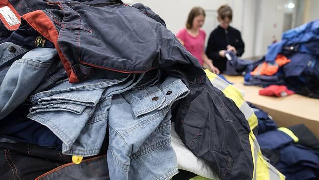 Kläder återvinning textilsortering