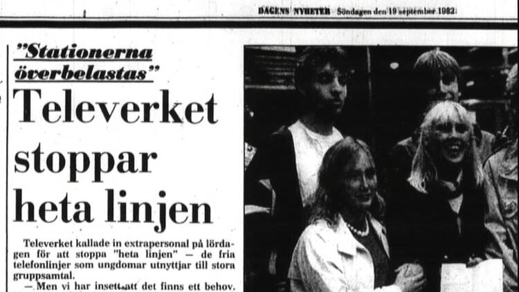 Heta linjen – 80-talets Facebook eller Snapchat | SVT Nyheter