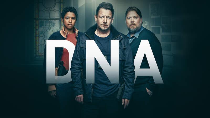 Neel (Oliva Joof), Rolf Larsen (Anders W. Berthelsen) och Skaubo (Nicolas Bro) i danska krimserien DNA.