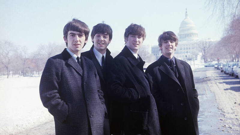 The Beatles - John Lennon, Paul McCartney, George Harrison och Ringo Starr.
