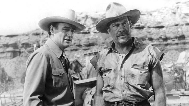 Daniel (John Wayne) och Richardson (Grant Withers).