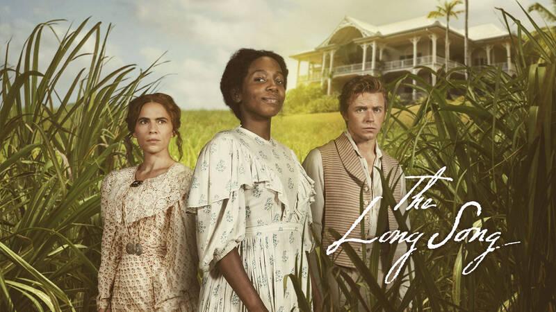 Caroline Mortimer (Hayley Atwell), July (Tamara Lawrance) och Robert Goodwin (Tamara Lawrance).