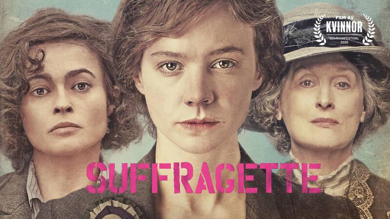 Edith Ellyn (Helena Bonham Carter), Maud Watts (Carey Mulligan) och Emmeline Pankhurst (Meryl Streep).