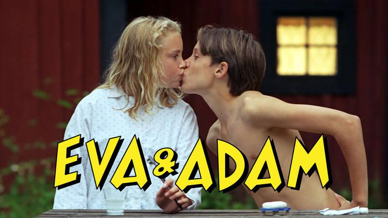Eva (Ellen Fjaestad) och Adam (Carl-Robert Holmer Kårell) i serien Eva & Adam.