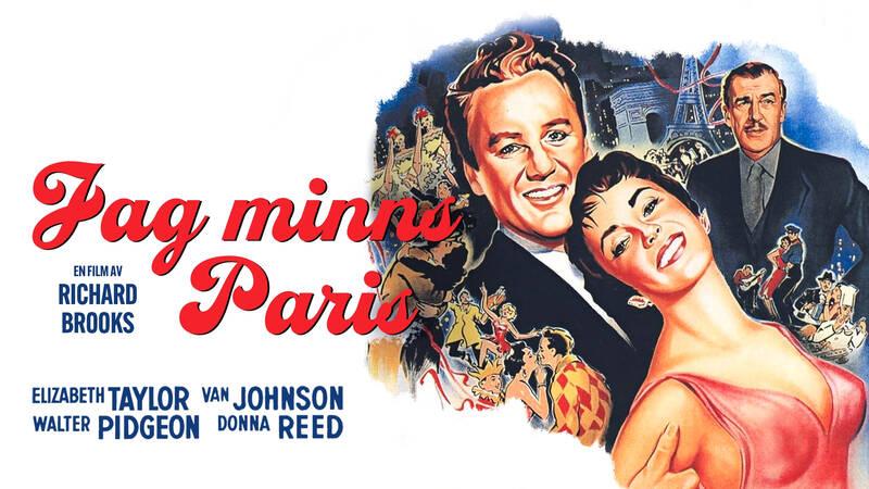 Elizabeth Taylor, Van Johnson och Roger Moore i Jag minns Paris.