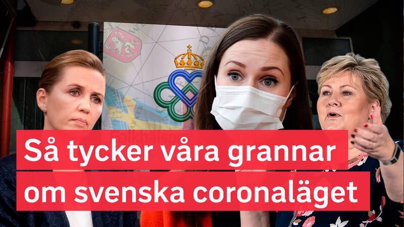 Omvärldskollen: Så tycker våra grannar om svenska coronaläget
