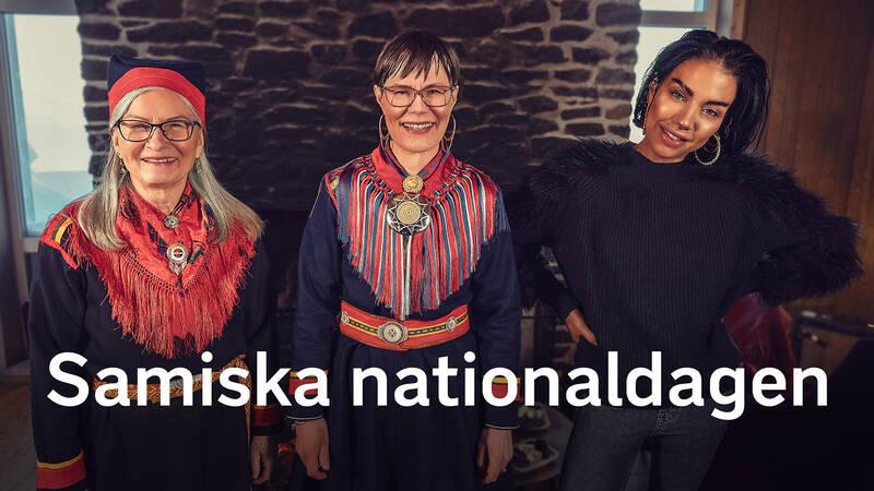 Carina Sarri, programledare Anna-Karin Niia och Maxida Märak.