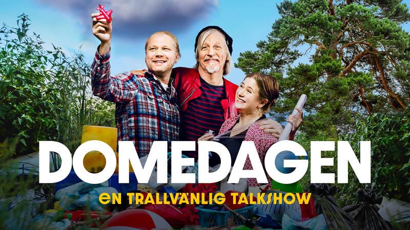 Domedagen - en trallvänlig talkshow med Stefan Sundström, Martin Emtenäs och Birgitta Henriksson.