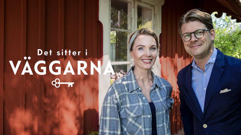 Byggnadsantikvarie Erika Åberg och antikexpert Rickard Thunér  i Det sitter i väggarna.