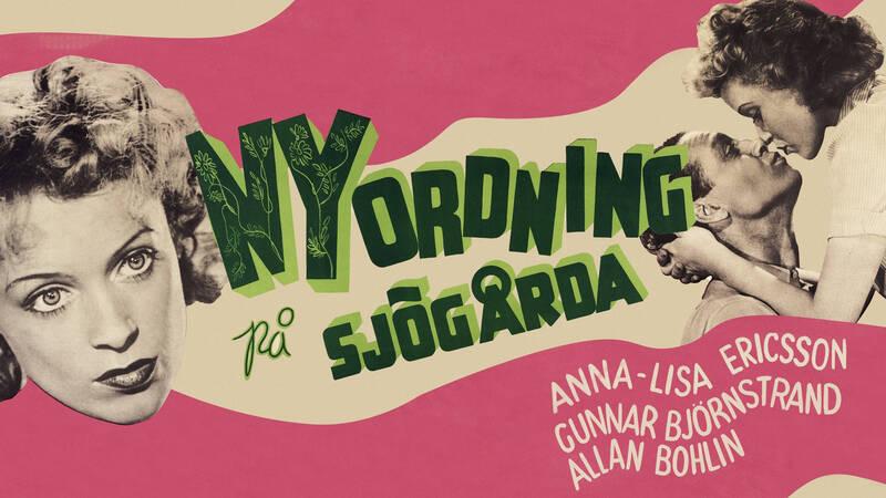 En komedi med Annalisa Ericson i en dubbelroll som tvillingarna Britta och Stina. - Nyordning på Sjögårda
