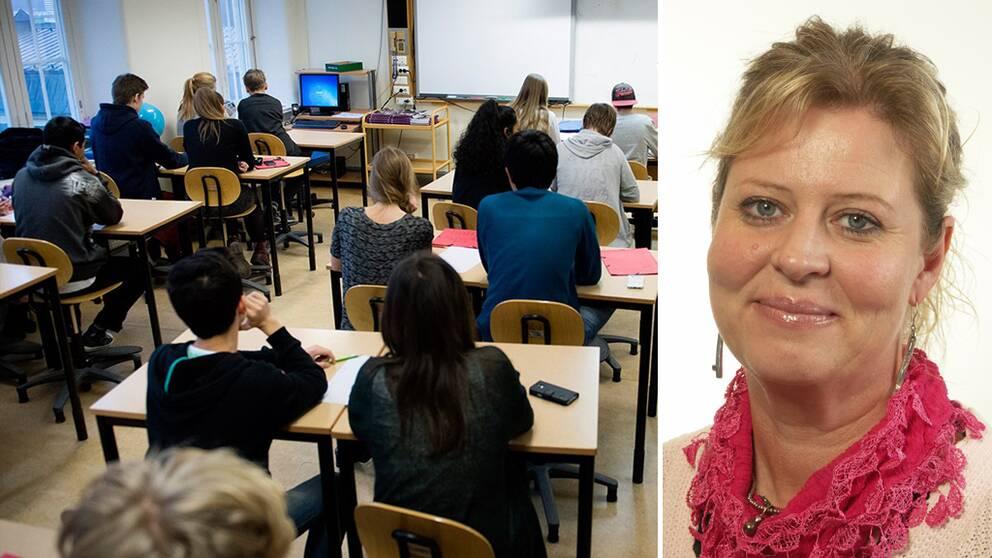 Klassrum / moderaten Camilla Waltersson Grönvall (M)