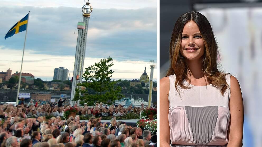 Halländska hembygdsföreningen Snöstorp får pris av prinsessan Sofia på Skansen.