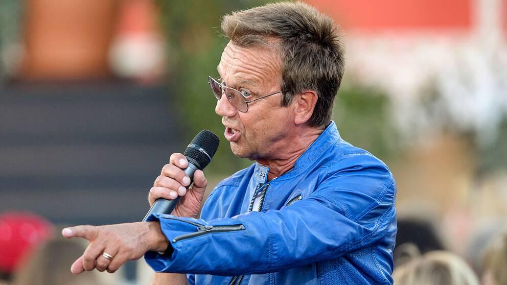 Björn Skifs vid Allsång på Skansen 2014.