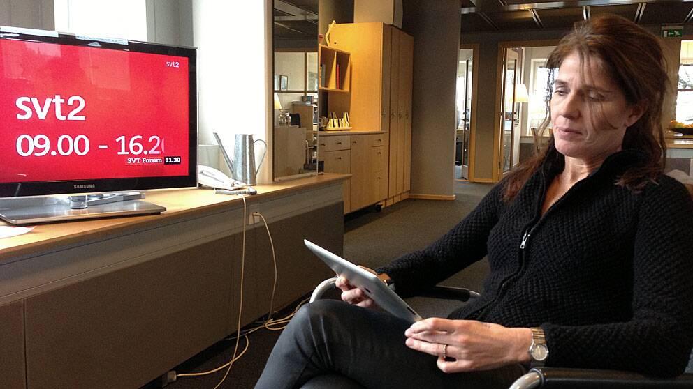 Lena Glaser programdirektör för interaktivt utbud och interaktiva plattformar på SVT