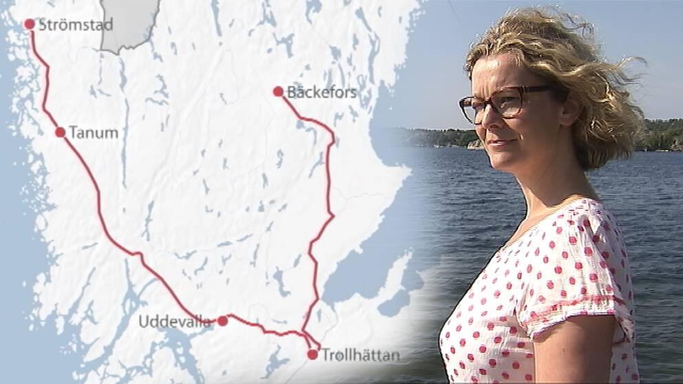Klockan 00.30 var Irene färdigbehandlad. Väl tillbaka i Strömstad, klockan två på natten, kunde resan summeras till 30 mil och fyra vårdinrättningar – för åtta stygn.