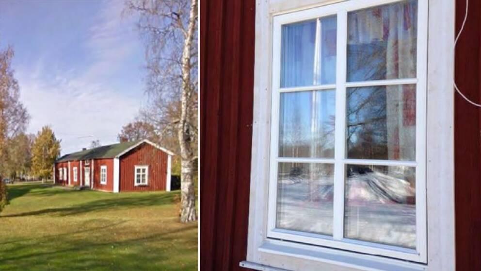 Lilla Holmforsgården fönster.