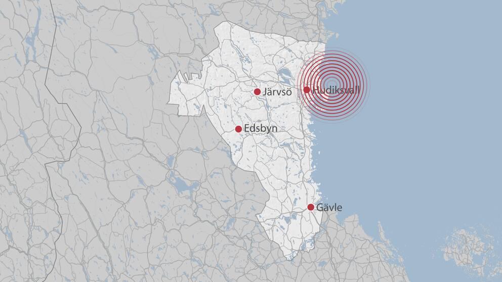 Jordbävningen kändes i Hudiksvallstrakten