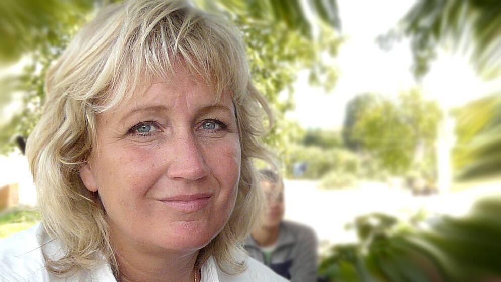 SVT:s utrikesreporter Erika Bjerström.