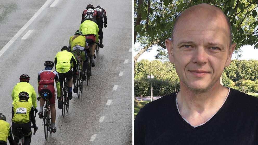 Cyklister på rad och Magnus Birath, Kalmar cykelklubb