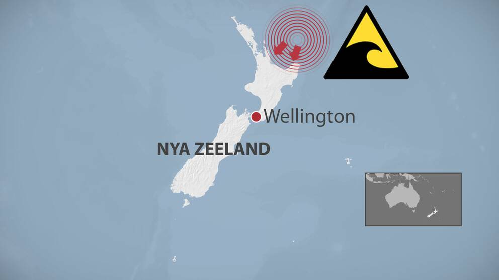 Karta över Nya Zeeland